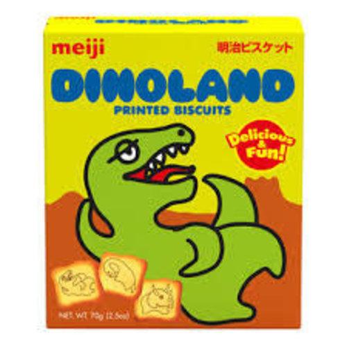 Meiji Dinoland Printed Biscuit 70g