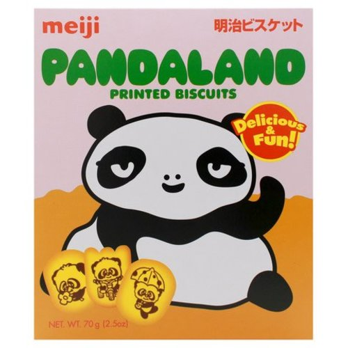 Meiji Pandaland Printed Biscuit 70g