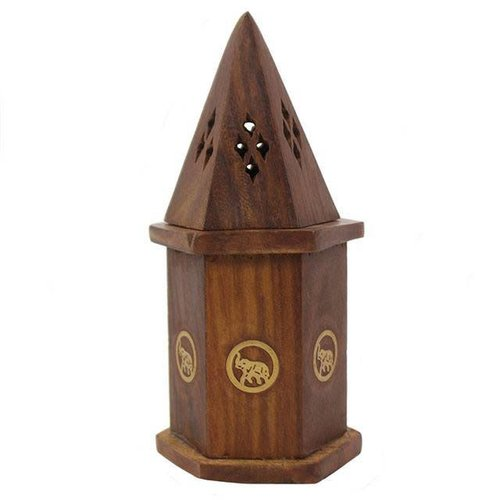 Elephant Temple Incense Cone Holder