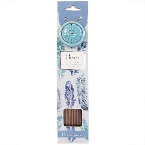 Incense Stick & Holder - Hope (Fresh Linen)