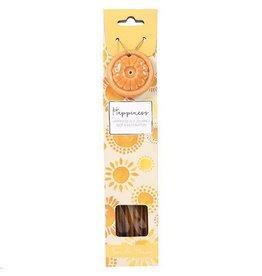 Incense Stick & Holder - Happiness (Honey Vanilla)