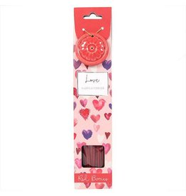 Incense Stick & Holder - Love (Red Berries)