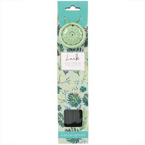 Incense Stick & Holder - Luck (Lemongrass)