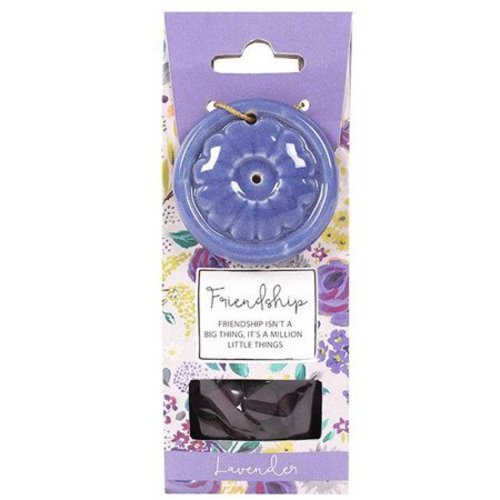 Incense Cone & Holder - Friendship (Lavender)