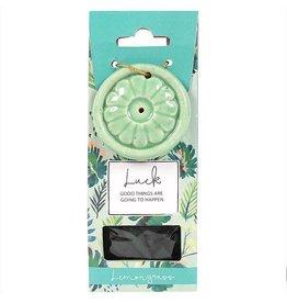 Incense Cone & Holder - Luck(Lemongrass)