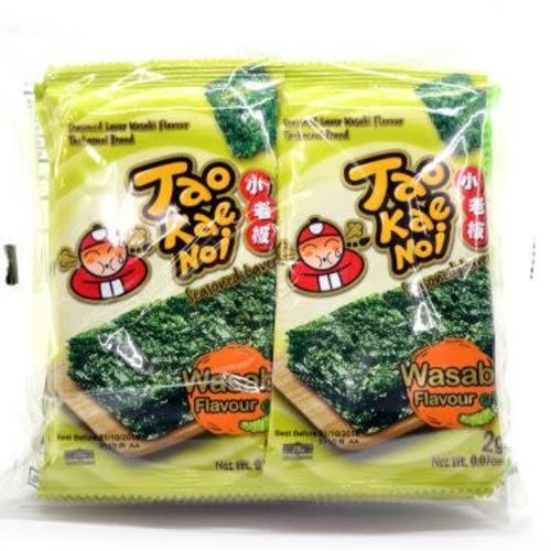 Tao Kae Noi BBD Roasted Seaweed -Wasabi  Style 2g