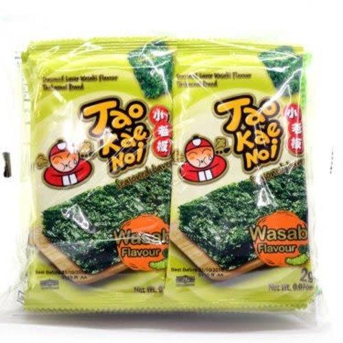 Tao Kae Noi Roasted Seaweed -Wasabi  Style 8x2g