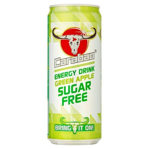Carabao Energy Drink Green Apple Sugar Free 330ml
