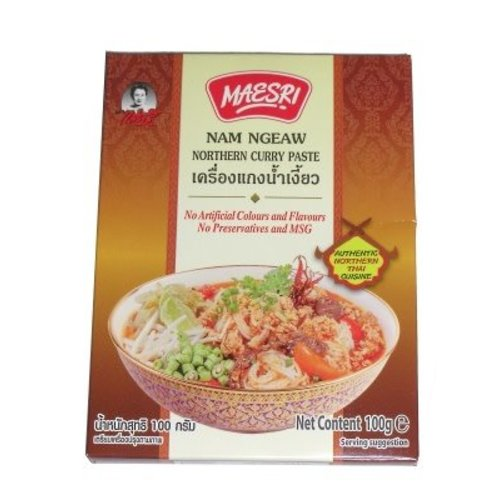 Maesri Curry Paste - Nam Ngeaw Northern Thai Curry 100g