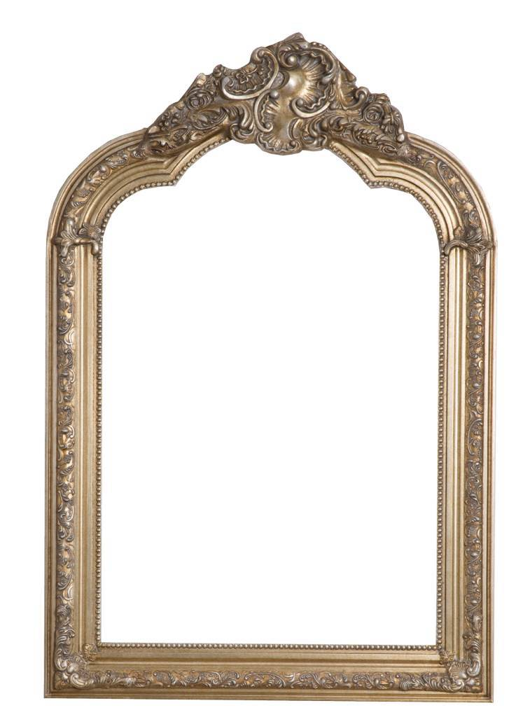 Paris spiegel mit silbernem barock rahmen - Schwarzer barock spiegel ...