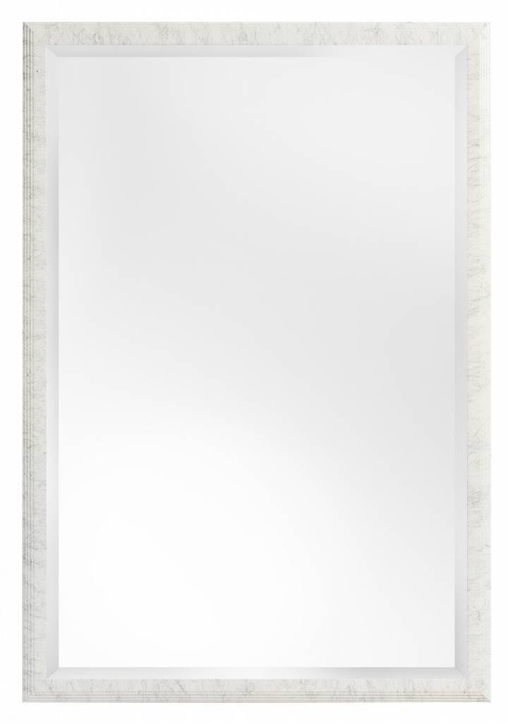 Trento - Spiegel mit schmalem weißen Rahmen mit schwarzen Linien ...