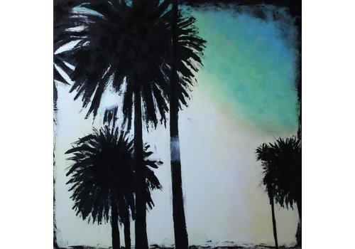 PortArt sunset palmtrees