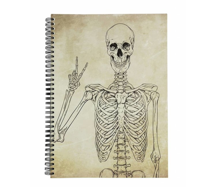 HAPPYHOSPITAL.NL   notepad skeleton peace   MEDICAL TWIST - Happy ...