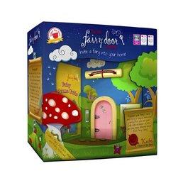 The Irish Fairy Door Company Roze rond feeëndeurtje