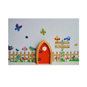The Irish Fairy Door Company Feeëndeur Muurdecoratieset met een Hekje