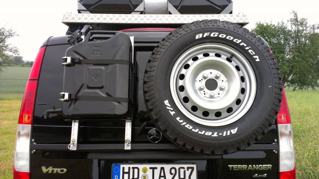 Rear Carrier Quot Modular Quot For Carrying Spare Wheel Canister