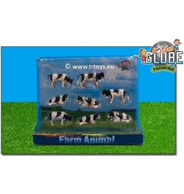 Kids Globe Kids Globe 571878 - Koeien zwartbont (1:87 / Siku)
