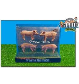 Kids Globe Kids Globe 571905 - 4 varkens (1:32 / Siku)