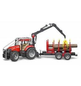 Bruder Bruder 3098 - Case IH PUMA 230 CVX Bosbouw Tractor & Aanhanger