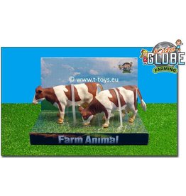 Kids Globe Kids Globe 571877 - Staande koeien roodbont (1:32 / Siku)