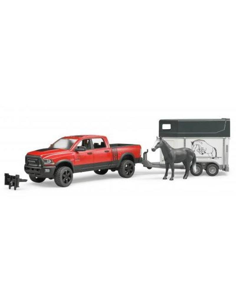 Bruder Bruder 2501 - Dodge RAM 2500 Power Wagon met paardentrailer en paard