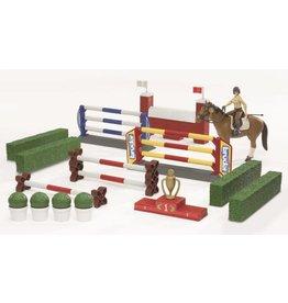 Bruder Bruder 62530 - Springparcours met paard en amazone