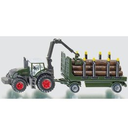 Siku Siku 1861 - Tractor met boomstammen trailer 1:87