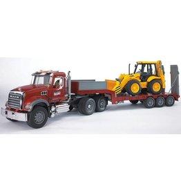 Bruder Bruder 2813 - Mack Granite met dieplader en JCB tractor