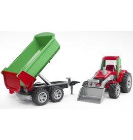 Bruder Bruder Roadmax 20116 - Tractor met voorlader en aanhanger