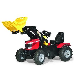 Rolly Toys Rolly Toys 611140 - Massey Ferguson 8620 met Rolly Traclader en luchtbanden