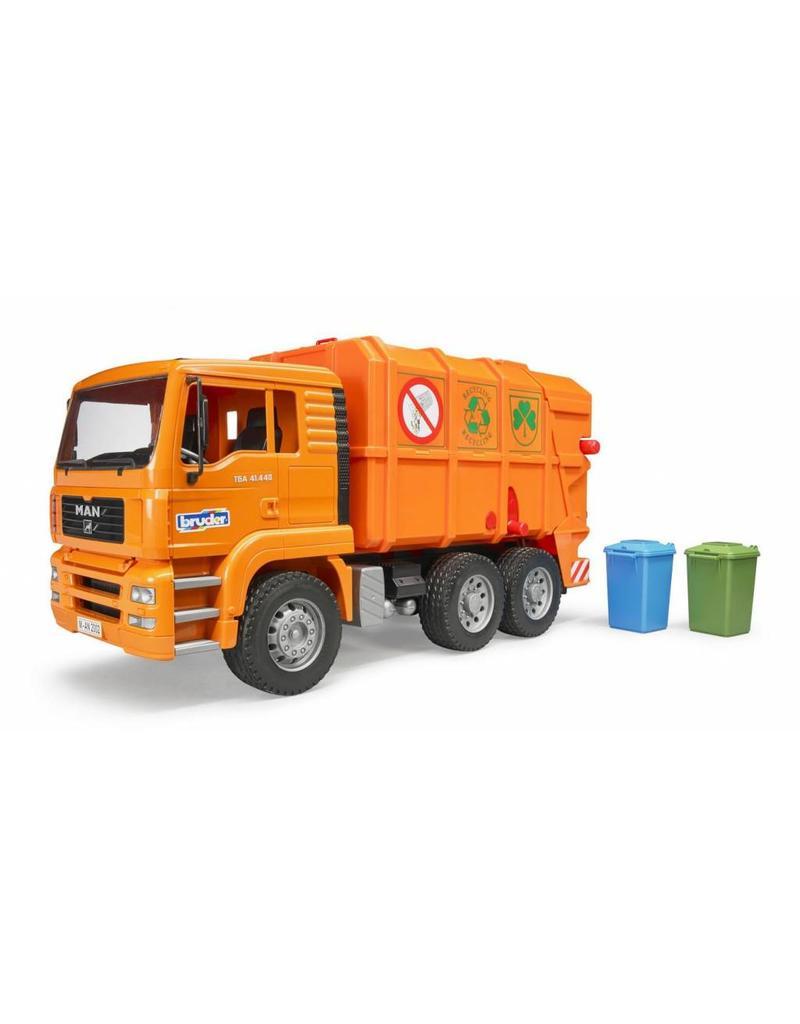 Bruder Bruder 2760 - MAN vuilniswagen (oranje)