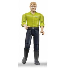 Bruder Bruder 60005 - Speelfiguur man: blank, blond, donkerblauwe jeans