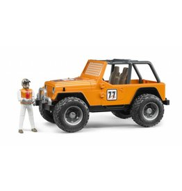 Bruder Bruder 2542 - Jeep Cross Country Oranje met rally-rijder