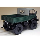 Weise Toys Weise Toys 1048 - Unimog 406 met Soft-Top  Donkergroen 1:32