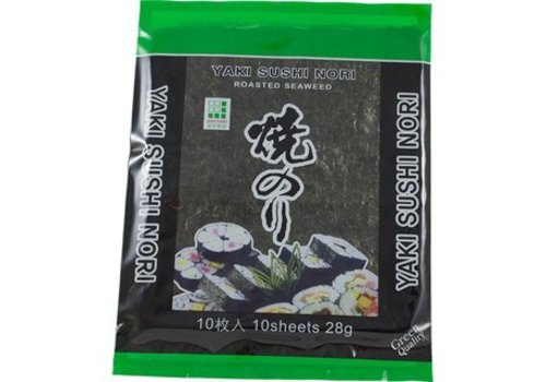 Yaki Nori Sushi Leaves Green Quality, 28g