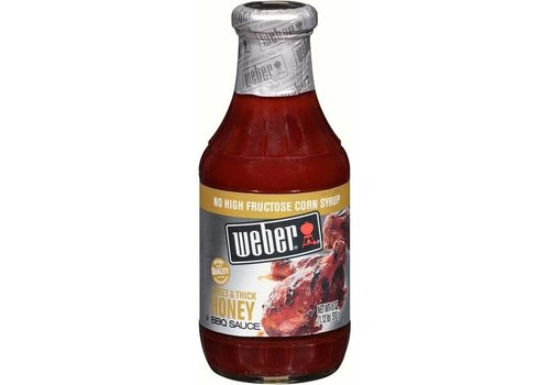 Weber Sweet Thick Honey BBQ Sauce, 510g