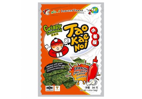 Tao Kae Noi Sriracha Seaweed Snack, 32g