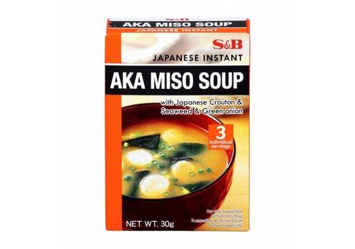S&B Instant Aka Miso Soup, 30g