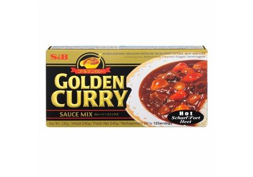 S&B Hot Golden Curry, 240g