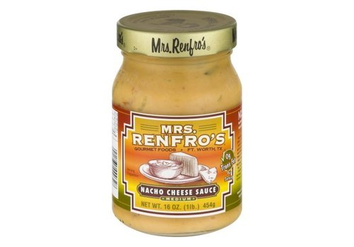 Mrs. Renfro's Nacho Cheese Medium Sauce, 454g
