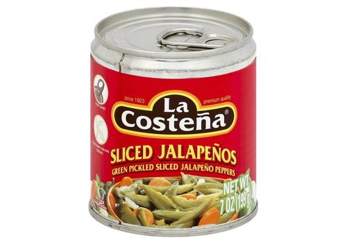 La Costena Sliced Jalapenos, 199g