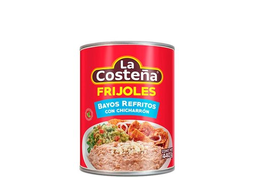 La Costena Refried Pinto beans with Chicharron, 440g