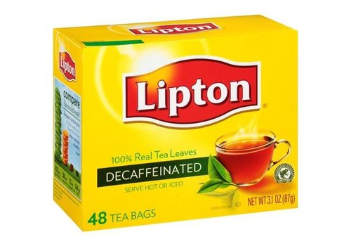 Lipton Decaffeinated Tea Bags, 48 pieces