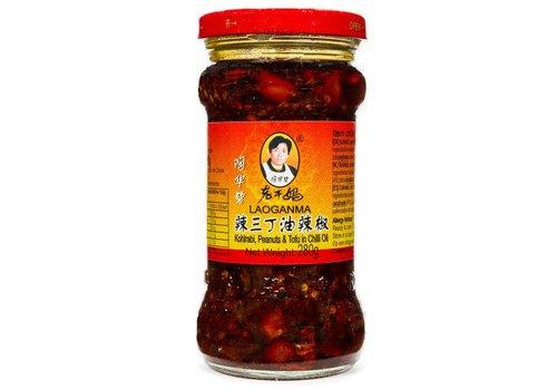 Lao Gan Ma Kohlrabi, Peanuts & Tofu Chili Oil, 280g