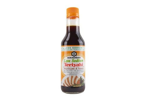 Kikkoman Teriyaki Less Sodium, 296ml