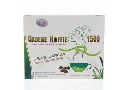 Groene Koffie 1500, 14x15g