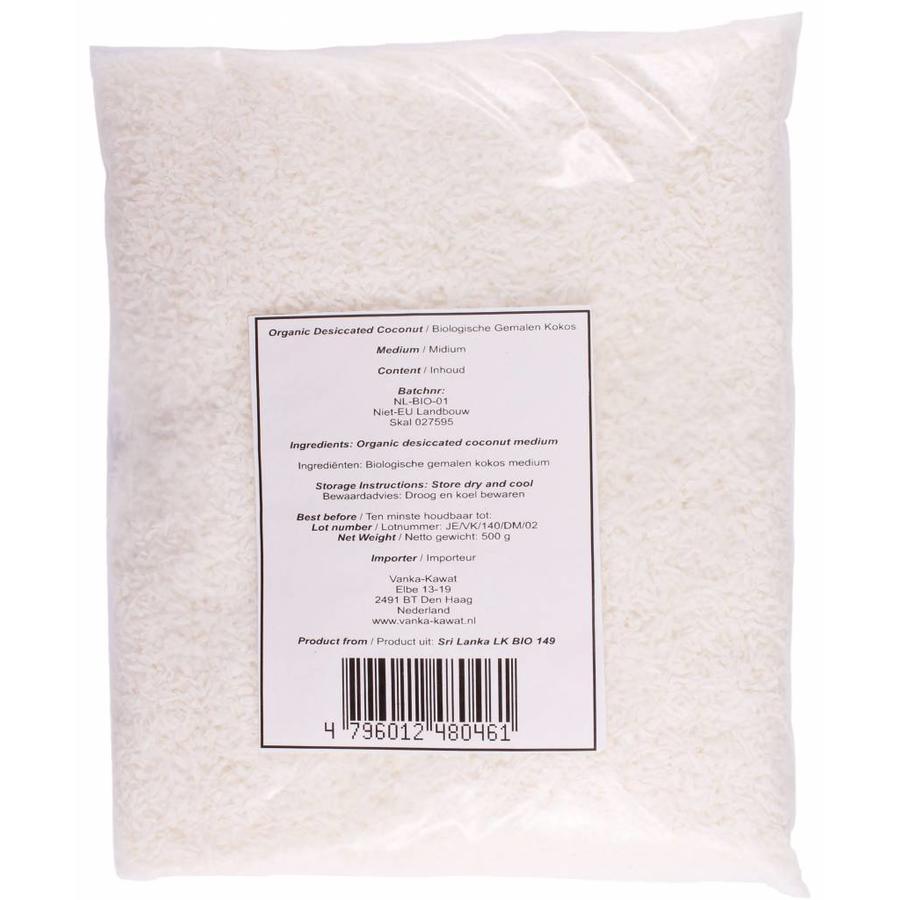 Biologische Geraspte Kokos Medium, 500g