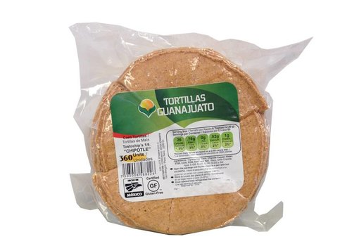 Guanajuato Tortillas Raw Nachos with Chipotle, 500g