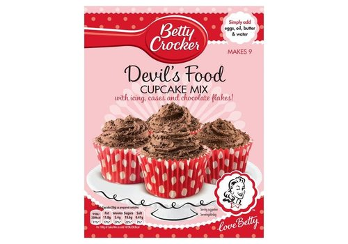 Betty Crocker Devils Food Cupcake Mix, 277g