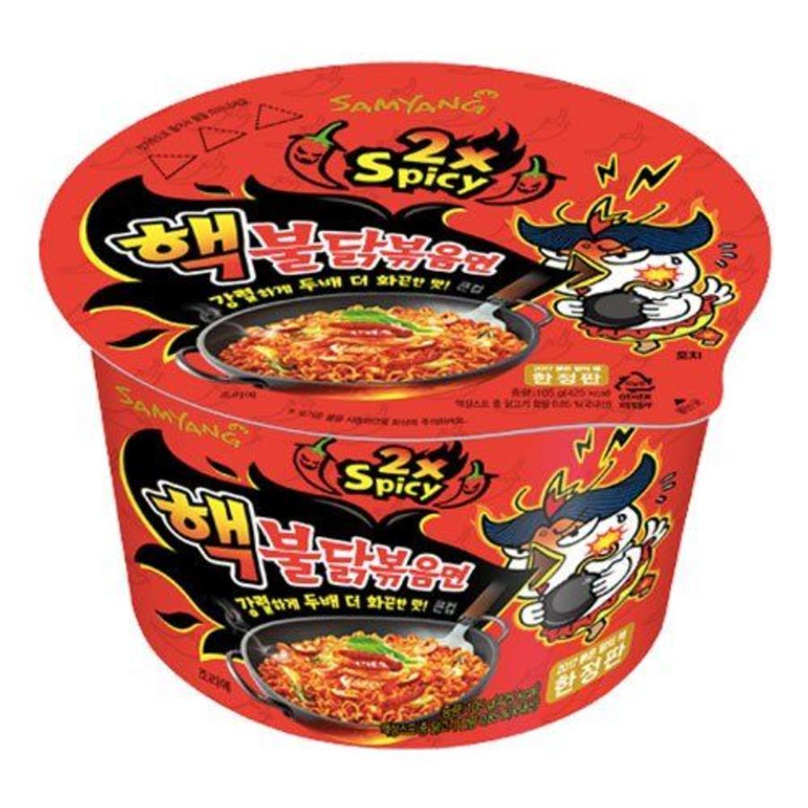 2x Spicy Bowl Hot Chicken Flavor Ramen, 105g